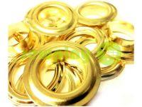 Люверс стальной с кольцом 13 мм, цвет золото, 50 шт