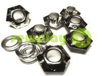 """Люверс стальной с кольцом """"Sixgon"""" 5 мм, цвет никель, 50 шт"""