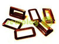 Люверс стальной прямоугольный 4 мм*12 мм, цвет антик, 50 шт