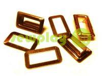 Люверс стальной прямоугольный 4 мм*12 мм, цвет золото, 50 шт