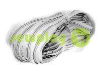 Молния спиральная рулонная светло-серая тип 3, тип 5, тип 7, тип 8, тип 10
