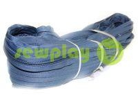 Молния спиральная рулонная серо-голубая тип 3, тип 5, тип 7, тип 8, тип 10