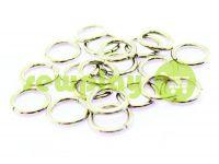 Кольцо стальное 10 мм, толщина 1,8 мм, цвет никель