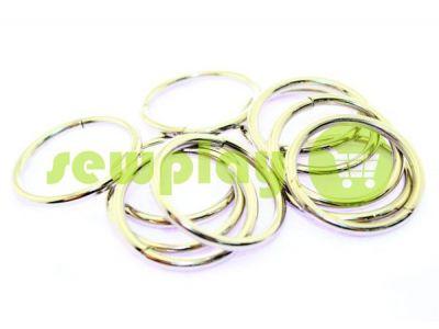Кольцо стальное 25 мм, толщина 2,5 мм, цвет никель арт 1713