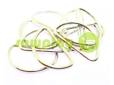 Semiring steel 41 mm, thickness 2,5 mm, the color of nickel