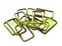 Frame metal 31 mm, thickness 2 mm, color antique, 10 pcs