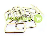Frame metal 33 mm, thickness 4 mm, color nickel, 10 pcs