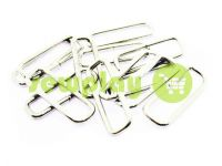 Frame metal 32 mm, thickness 2,5 mm, color nickel, 10 pcs
