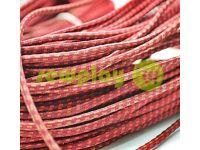 Шнур эластичный красный в точку 3 мм