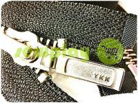 Блискавка YKK металева тип 5 роз'ємна, колір чорний, зуб нікель