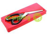 Ножницы портные фигурные с пластиковой ручкой и самозатачивающимися лезвиями