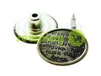 "Buttons denim ""Newspaper"" 17 mm, 20 mm, color black nickel, 10 pcs"