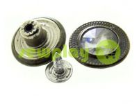 """Buttons denim """"Relief-Stone"""" 17 mm, color oxide, 10 pcs"""