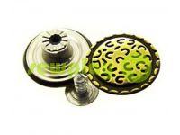 """Buttons denim stainless """"Cap"""" 17 mm, 20 mm, color antique, 10 pcs"""