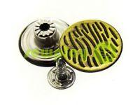 """Buttons denim stainless """"Cork"""" 17 mm, color antique, 10 pcs"""