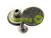 "Buttons denim stainless ""Cork"" 17 mm, color black nickel, 10 pcs"
