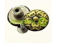"""Buttons denim stainless """"Flower"""" 17 mm, color antique, 10 pcs"""
