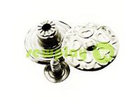 "Buttons denim stainless ""Flower"" 17 mm, color nickel, 10 pcs"