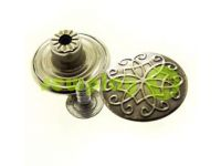 "Buttons denim stainless ""Weave"" 17 mm, color black nickel, 10 pcs"