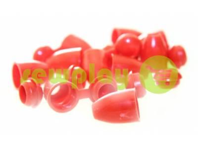 """Наконечник пластиковый """"Колокольчик"""" красный под шнур d=5 мм, 10 шт арт 876"""