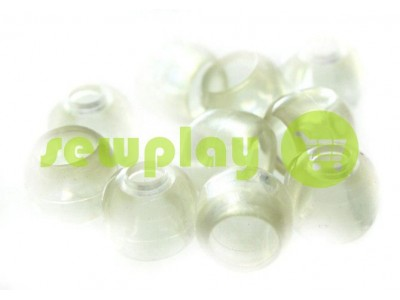 """Наконечник пластиковый """"Колокольчик"""" прозрачный под шнур d=5 мм, 10 шт арт 879"""