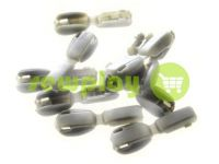 "Tip ""beans"" plastiс olive cord d= 6 mm, 10 pcs"