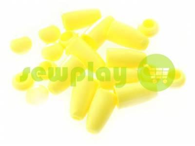 "Наконечник пластиковый ""Колокольчик"" желтый под шнур d=4 мм, 10 шт арт 884"