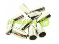 "Tip ""bell"" plastiс nickel 14 mm* 8 mm, cord d= 4 mm, 10 pcs"