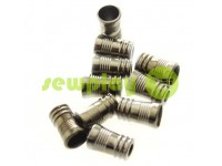 "Tip fluted ""Barrel"" plastiс black nickel, 10 mm* 16 mm, cord d= 5 mm, 10 pcs"