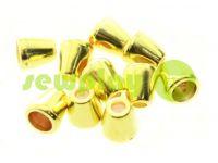 "Tip ""bell"" plastiс gold 12 mm* 12 mm, cord d= 5 mm, 10 pcs"