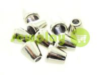 "Tip ""bell"" plastiс nickel 10 mm* 10 mm, cord d= 4 mm, 10 pcs"