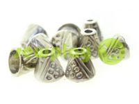 "Tip ""bell point"" plastiс nickel 10 mm* 10 mm, cord d= 4 mm, 10 pcs"