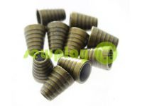 "Tip ""bell tree"" plastiс antique 14 mm* 11 mm, cord d= 5 mm, 10 pcs"