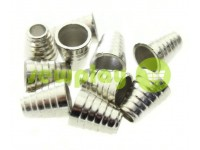"Tip ""bell tree"" plastiс nickel 14 mm* 11 mm, cord d= 5 mm, 10 pcs"