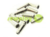 "Tip ""bell tube"" plastiс nickel 19 mm* 11 mm, cord d= 4 mm, 10 pcs"