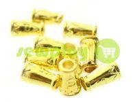 "Tip ""bell ap"" plastiс gold 14 mm* 9 mm, cord d= 4 mm, 10 pcs"