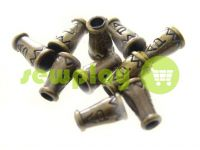 "Tip ""bell ap"" plastiс antique 14 mm* 9 mm, cord d= 4 mm, 10 pcs"