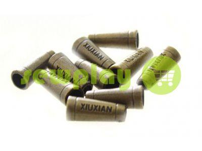 "Наконечник пластиковый ""Xiuxian"" 20 мм*8 мм антик, под шнур d=4 мм, 10 шт арт 909"