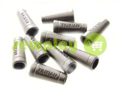 """Наконечник пластиковый """"Xiuxian"""" 20 мм*8 мм темный никель, под шнур d=4 мм, 10 шт арт 908"""
