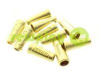 """Кінцевик пластиковий """"Xiuxian"""" 20 мм*8 мм золото, під шнур d= 4 мм, 10 шт"""