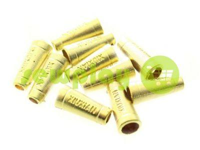 "Наконечник пластиковый ""Xiuxian"" 20 мм*8 мм золото, под шнур d=4 мм, 10 шт арт 910"