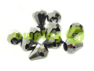 """Наконечник пластиковый """"Drop"""" 11 мм*9 мм темный никель, под шнур d=3 мм, 10 шт арт 912"""