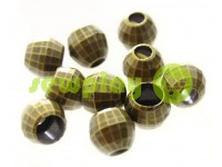 "Tip ""Disco"" plastiс antique 13 mm* 13 mm, cord d= 5 mm, 10 pcs"