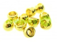 "Tip ""Circle"" plastiс gold 8 mm* 8 mm, cord d= 3 mm, 10 pcs"