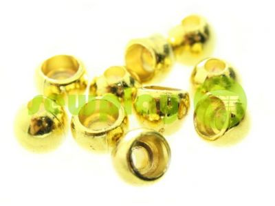 "Наконечник пластиковый ""Circle"" 8 мм*8 мм золото, под шнур d=3 мм, 10 шт арт 917"