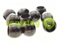 "Tip ""Circle"" plastiс black nickel 8 mm* 8 mm, cord d= 3 mm, 10 pcs"