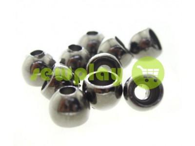 """Наконечник пластиковый """"Circle"""" 8 мм*8 мм темный никель, под шнур d=3 мм, 10 шт арт 919"""