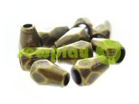 "Tip ""Gran"" plastiс antique 12 mm* 8 mm, cord d= 3 mm, 10 pcs"