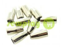 "Tip ""bell small"" plastiс nickel 13 mm* 6 mm, cord d= 3 mm, 10 pcs"