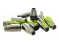"Tip ""bell small"" plastiс black nickel 13 mm* 6 mm, cord d= 3 mm, 10 pcs"